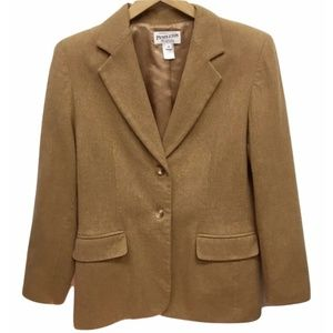 Pendleton Wool Tan Blazer Jacket 10